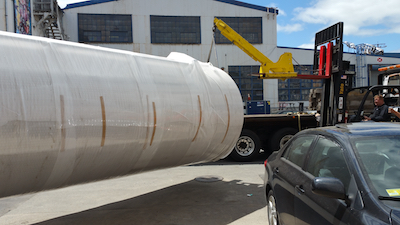 Everglory Logistics moved a tank for a cider brewer to the United States from the overseas factory.